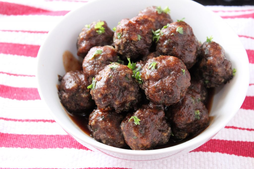 Meatballs with Coca Cola BBQ Sauce