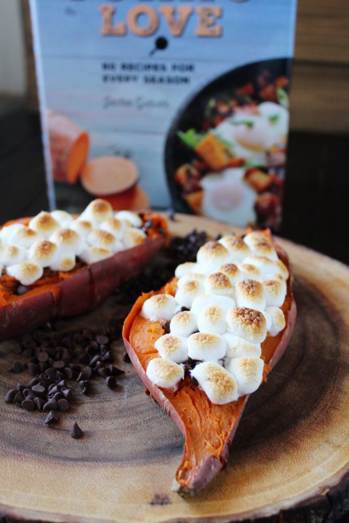 Sweet Potatoes with Chocolate Chips and Marshmallows