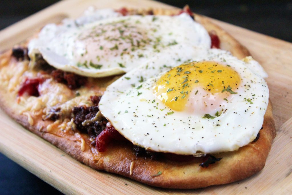 Chorizo and Egg Breakfast Flatbread