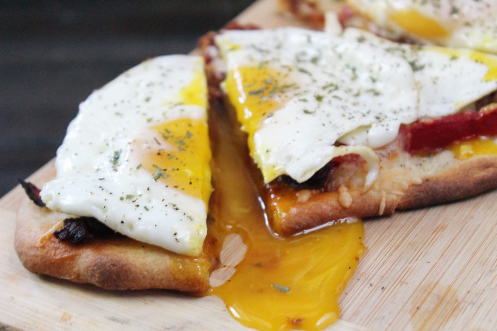 Chorizo and Egg Breakfast Flatbread 3