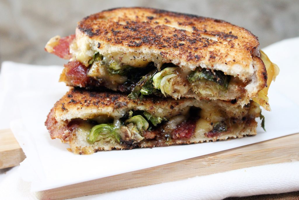 Brussel Sprouts Bacon Grilled Cheese Sandwich