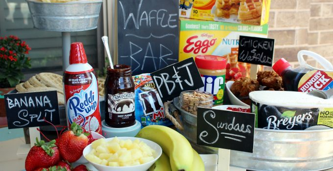 Waffle Bar Tutorial #EggoWaffleBar