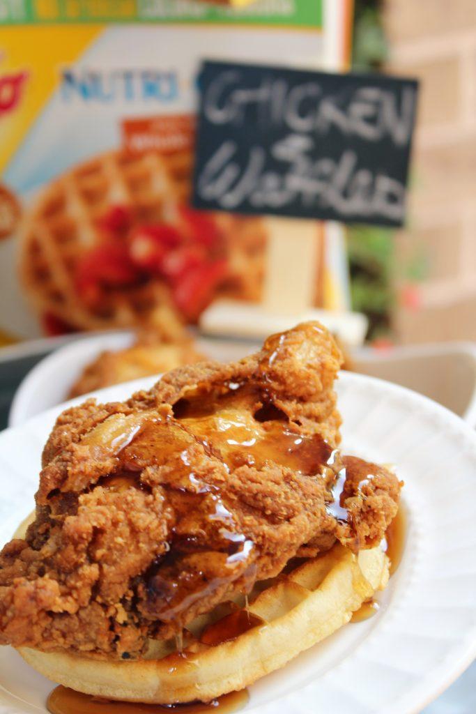 Eggo Waffle Bar Chicken and Waffles