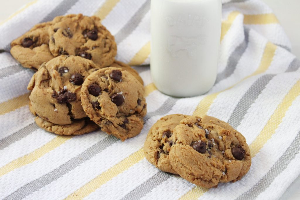 Salted Dulce de Leche Chocolate Chip Cookies
