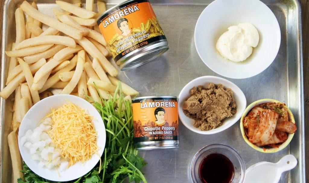 Carne Asada Kimchi Fries Ingredients