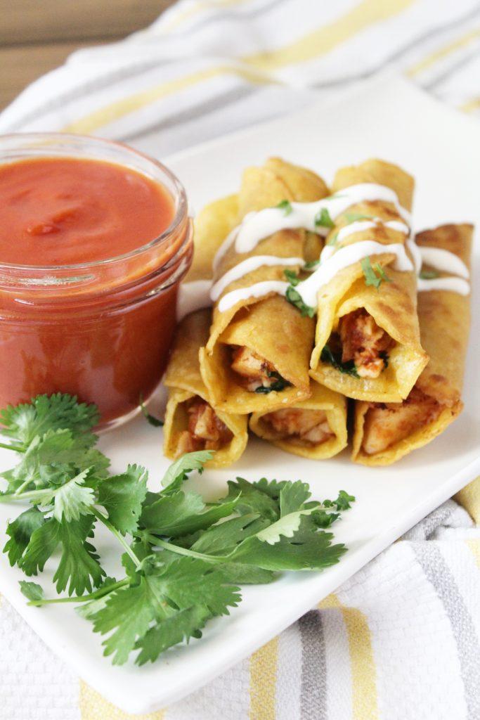 Chicken Salsa Flautas