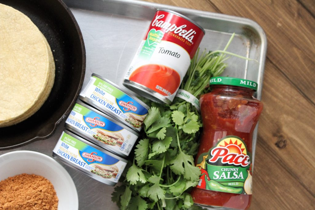 Chicken Salsa Flautas Ingredients 2