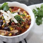 Easy Zero Points Chicken Taco Soup
