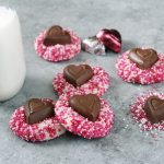 Valentine's Almond Shortbread Cookies
