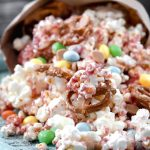 White Chocolate Raspberry Popcorn Bunny Mix