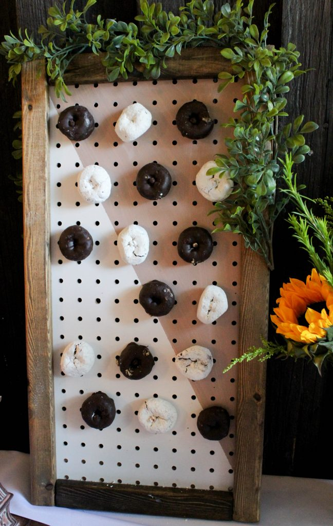 Graduation Party Ideas Mini Donut Wall