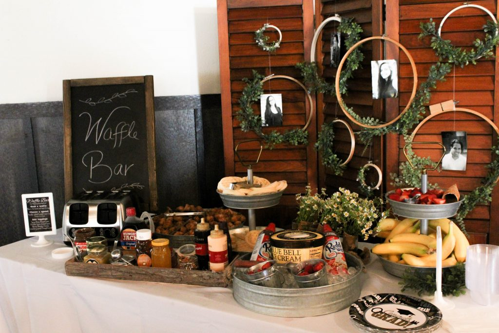 Graduation Party Ideas Waffle Bar