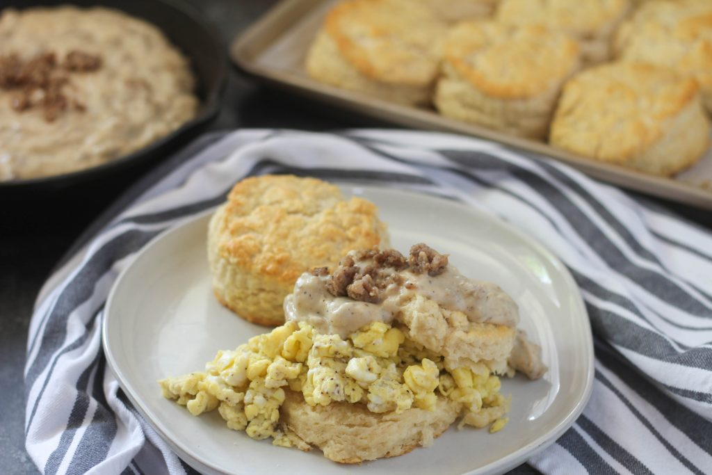 Buttermilk Biscuits and Gravy