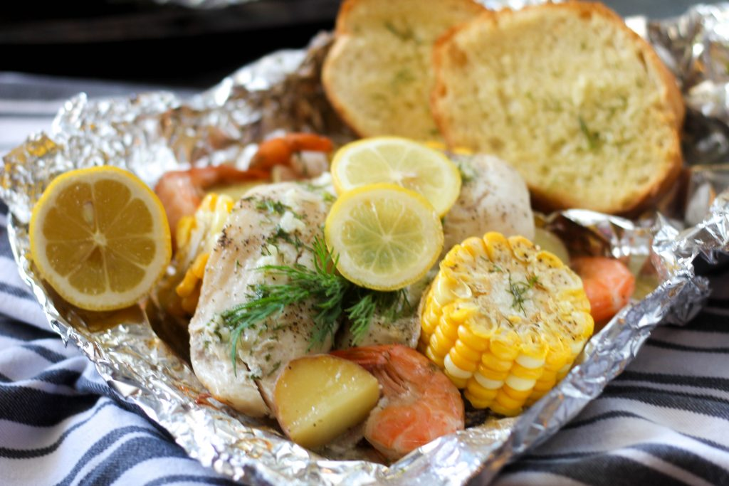 Foil Wrap Fish Bake
