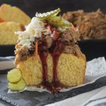 Easy Pulled Pork Cornbread Stack