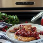 Cranberry Barbecue Glazed Pork Chops