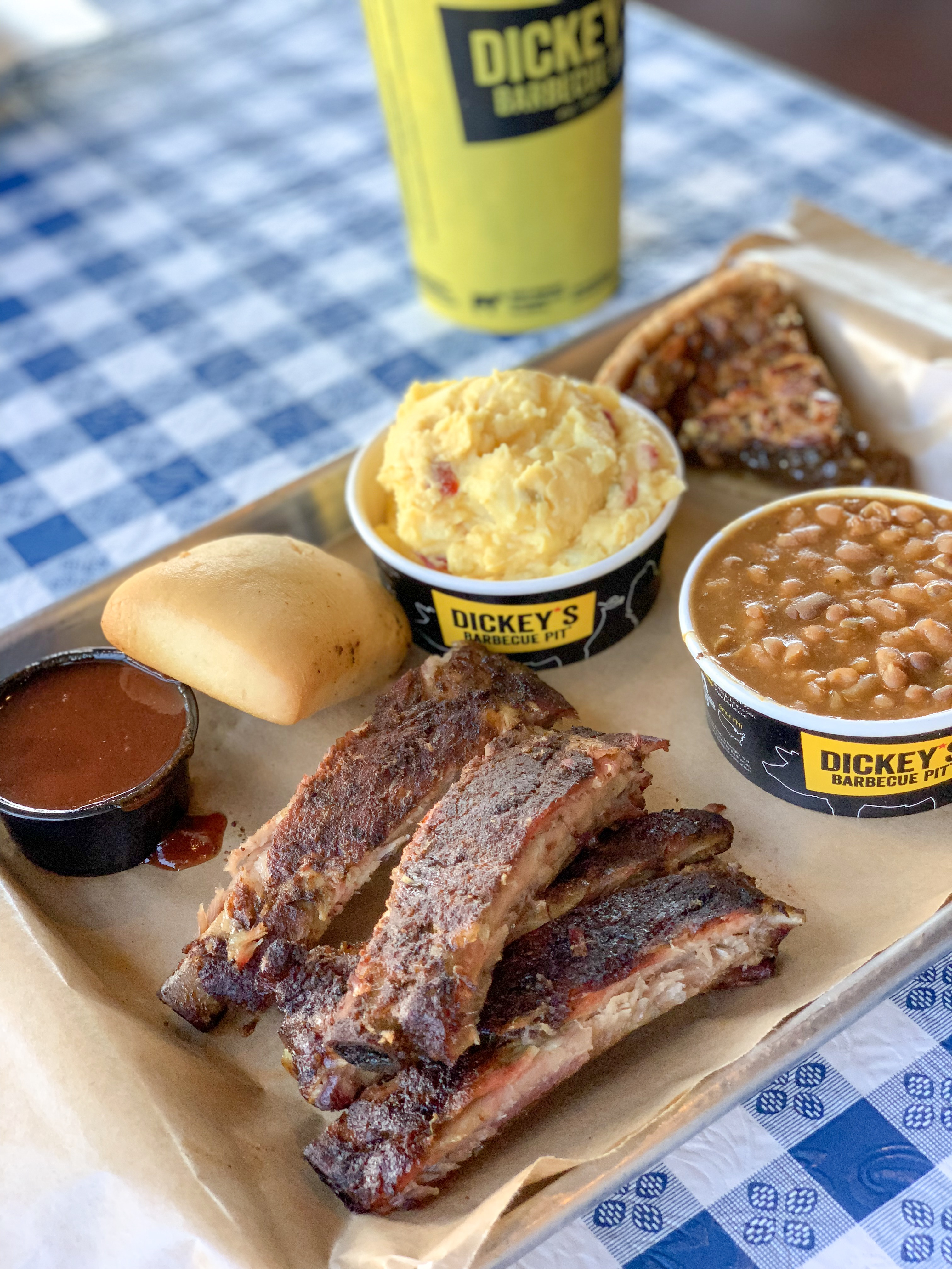 Dickey's All You Can Eat Ribs #RibsAndABigYellowCup - addicted to