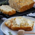 Garlic Rosemary Honey Beer Bread