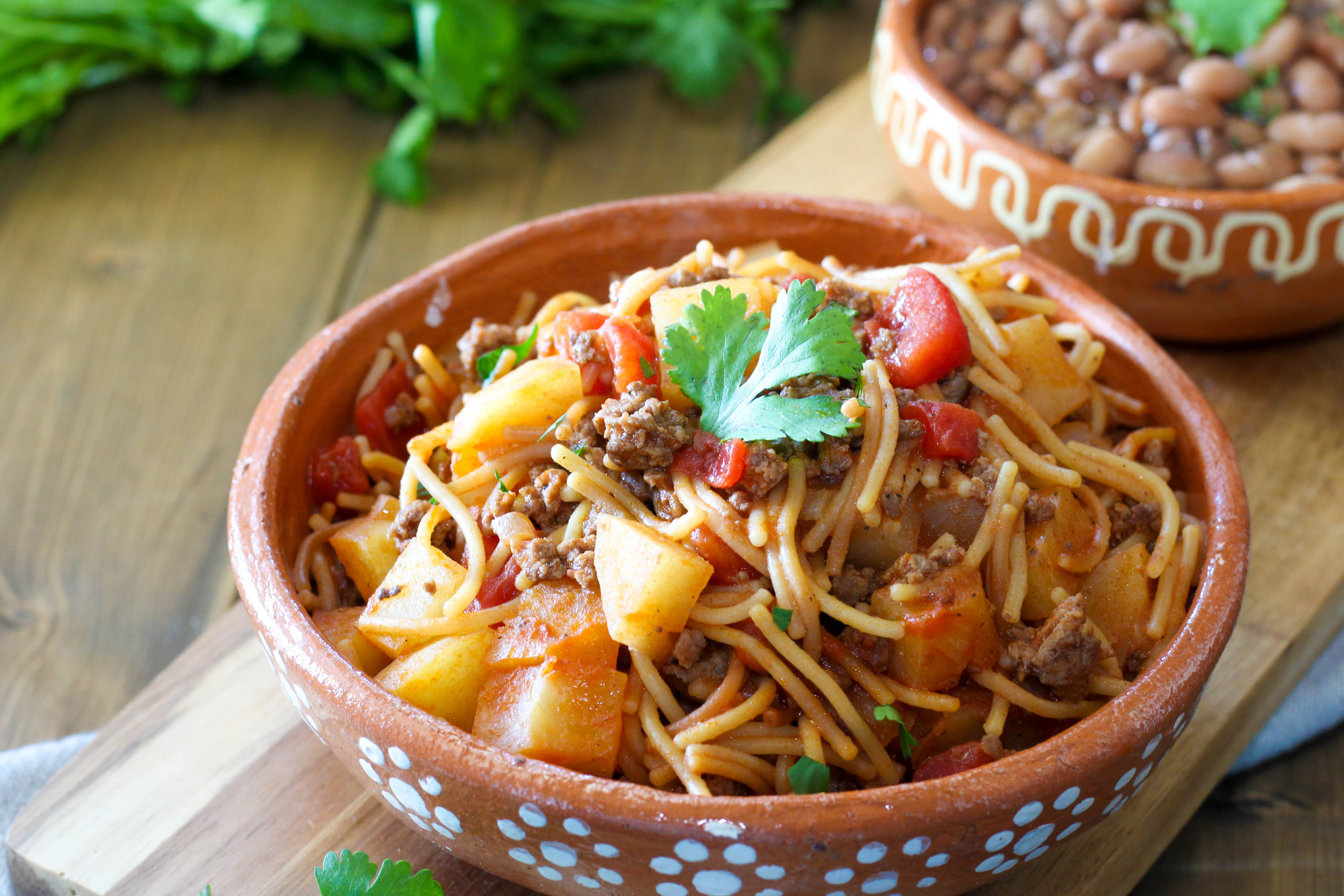 Fideo Con Carne And Papas Addicted To Recipes