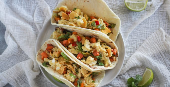 Veggie Migas Tacos