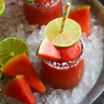 Frozen Watermelon Margarita Slushee