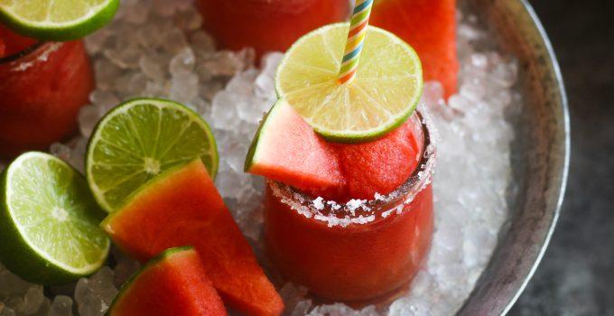 Frozen Watermelon Margarita Slushee