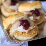 Thanksgiving Leftovers: Turkey and Dressing Biscuit Sandwich