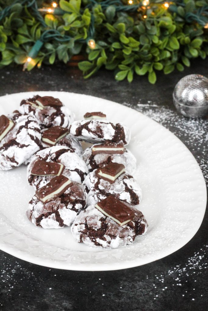 Andes Mint Chocolate Crinkle Cookies